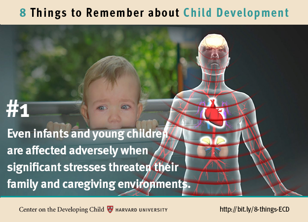 Number 1: Even infants and young children are affected adversely when significant stresses threaten their family and caregiving relationships.