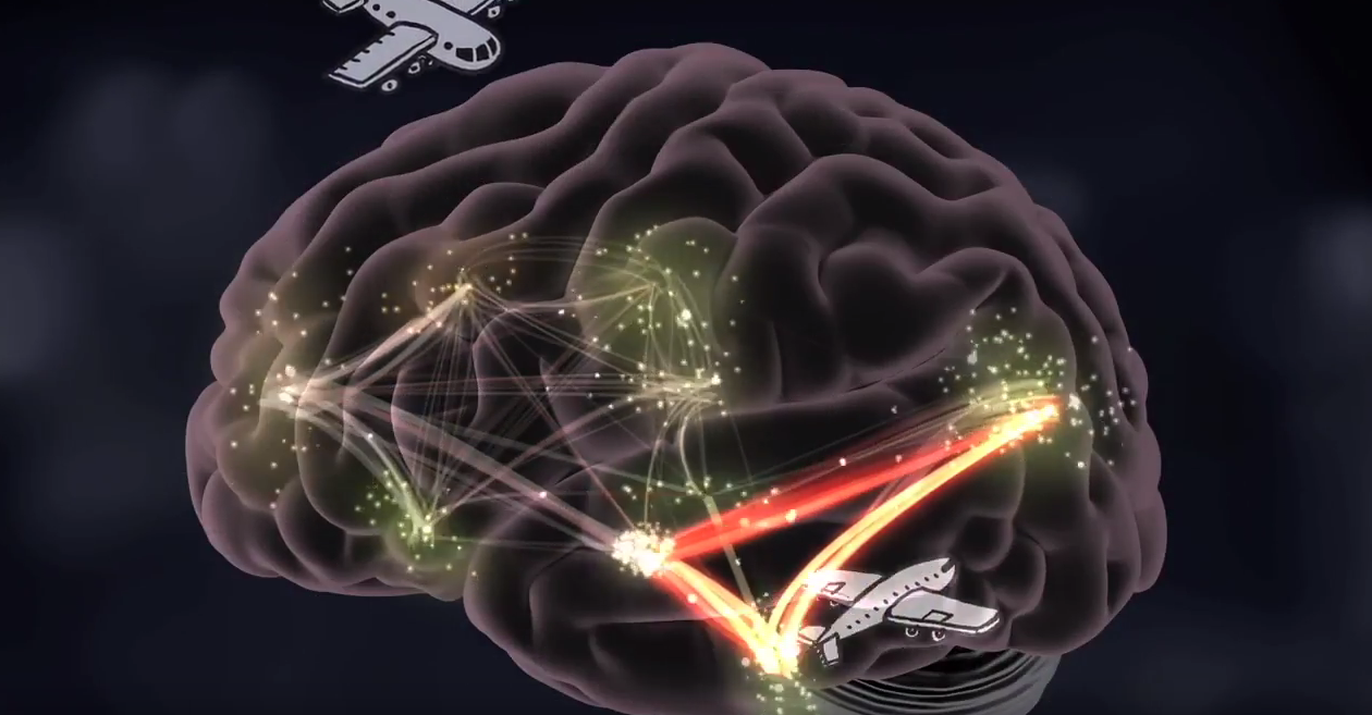 Building Core Capabilities for Life brain graphic with airplanes